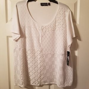 Elementz laced front blouse size 2x nwt